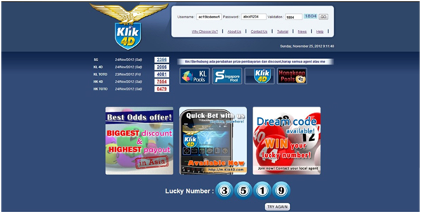 Situs Resmi Agen Judi Togel Online Klik4D