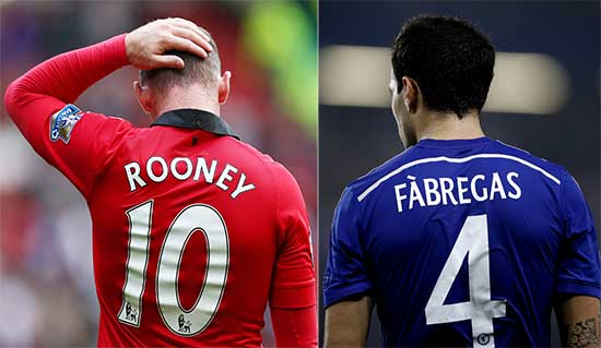 Wayne Rooney Dan Cesc Fabregas Mulai Kehilangan Tempat Dan Performa Di Musim Ini